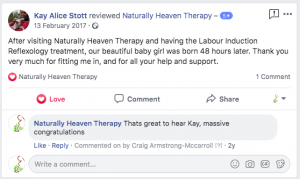 Labour Induced Reflexology Testimonial Naturally Heaven Therapy Newcastle, How labour induced reflexology helped me